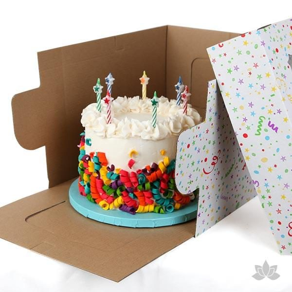 Groovy Corrugated Cake Box Printed Cake Box High Cake Box Customized Cake Funny Birthday Cards Online Inifofree Goldxyz